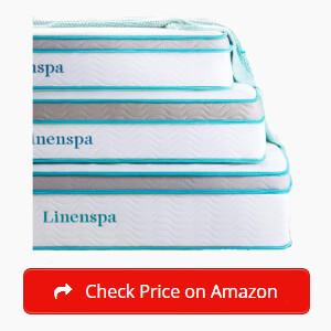LINENSPA Memory Foam and Innerspring Hybrid Mattress Sticky
